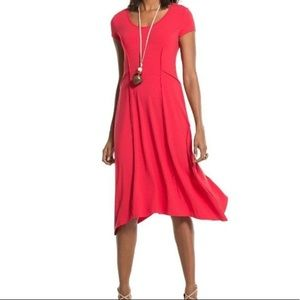 NWT Chico's Size 3 Seamed Sydney Red Dress Sz XL